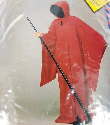 Hollywood Illusion Hooded Red Horror Robe Halloween Costume Scary Kids S M L](Kids Hollywood Costumes)