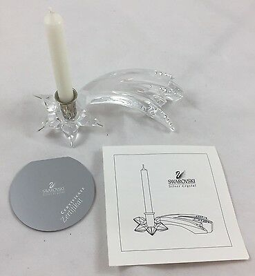 SWAROVSKI SILVER CRYSTAL  SHOOTING STAR CANDLE HOLDER