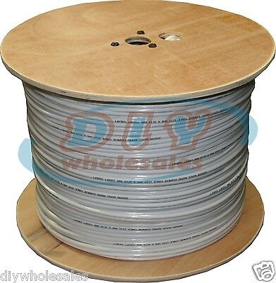 SIAMESE RG59/U CCTV COAX CABLE VIDEO 18AWG 1000 FT White