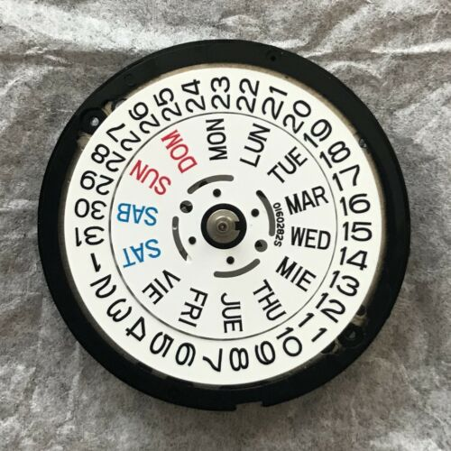 Genuine Seiko 7S26C Movement from SKX White Day/Date Wheels~US Seller+Fast Ship