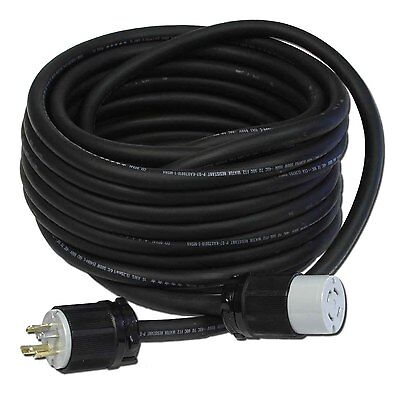 25 Ft 30a 104 L14-30 120240v Generator Power Cord