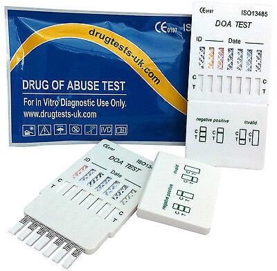 3 x DRUG TESTING KIT - 5 in 1 DRUG PANEL TEST TESTS PRIVATE HOME SCREENING KIT
