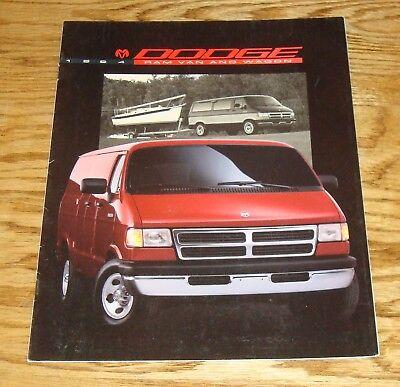 Original 1994 Dodge Ram Van & Wagon Sales Brochure 94 Dodge Ram Van Wagon