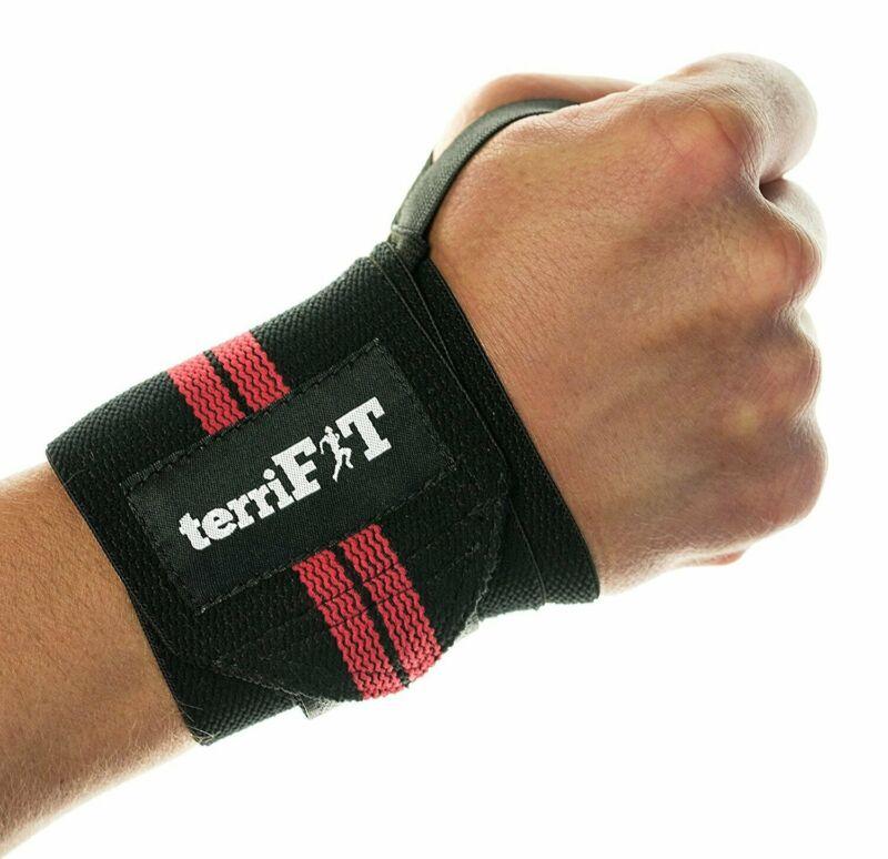 100 PAIRS terriFIT Medium Duty CrossFit Weight Lifting Wrist Wraps Wholesale Lot