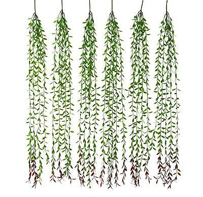Artificial Eucalyptus Garland-6pcs Ivy Vines for Wall Hanging-Plant Leaves Decor](Artificial Eucalyptus Garland)