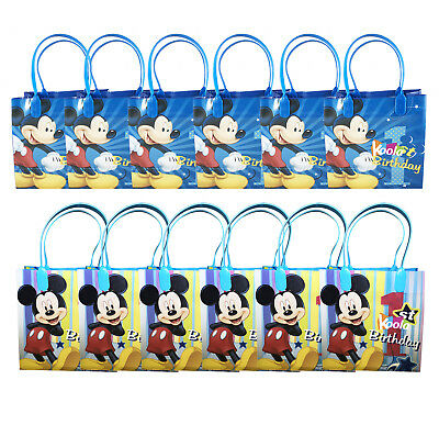 Disney Mickey Mouse 1st Birthday Party Loot Bags Birthday Goody Fun Gift Bag - Mickey Mouse 1 Birthday