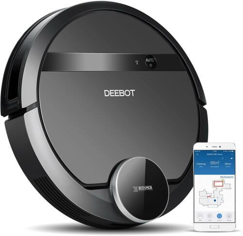 New Ecovacs Deebot 901 Black Smart Robotic Vacuum Alexa and