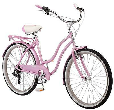 Schwinn Perla Cruiser Women's Bicycle, 26 Inch Wheel, Pink