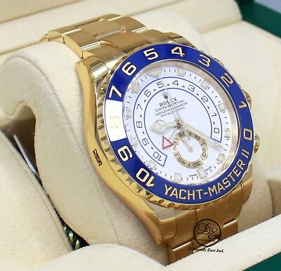 Rolex Yacht Master II 116688 18K Yellow Gold Oyster 44mm BOX/PAPER *NEW* MODEL