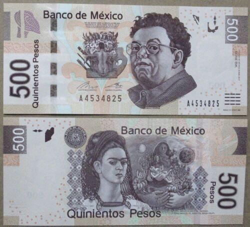 500 Pesos, Mexican Banknote, 2017, Diego Rivera/Frida Khalo UNC