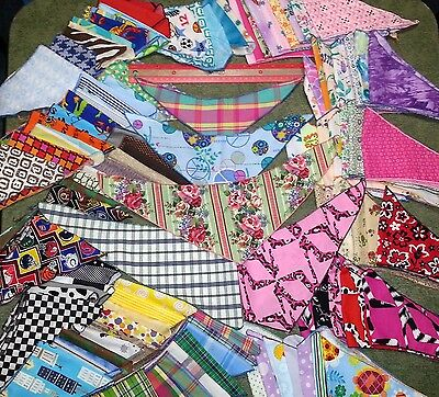 75 Dog Grooming BANDANAS finished edge 25 XS 25 S 25 M Pet Scarf everyday Tie On
