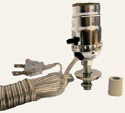 """Lamp parts: nickel pre-wired bottle kits - 3/4"""" adapter"""