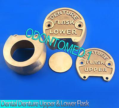 Dental Denture Upper Lower Flask New Lab Professionalodm Brand New Setdn-422
