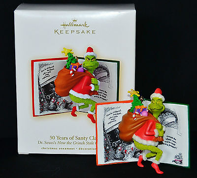 * 2007 *  GRINCH 50 YEARS OF SANTY CLAUS  Hallmark Ornament DR SEUSS