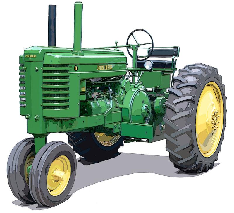 John Deere Model G canvas art print by Richard Browne farm tractor