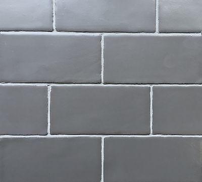 Ceramic Tile Matte Tile (3x6 Dark Gray Matte Subway Ceramic Tile Wall Decor Kitchen Bath (Sample Order) )