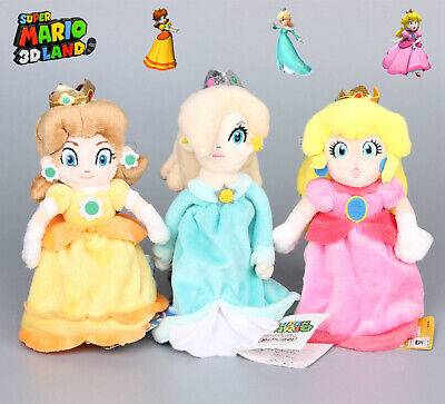 3Pcs Super Mario Bros Princess Daisy Peach Rosalina Plush Toy Doll Gifts Set 8