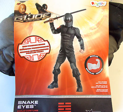 Snake Girl Costume (G.I. Joe Snake Eyes Muscle Child Costume Hard Mask 6 8)