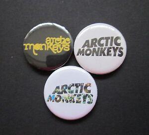 ARCTIC MONKEYS -X3  - LOGO- music -25MM BUTTON BADGES-FREE UK POST002AGE