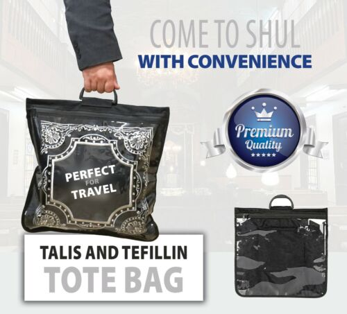 Tallit and Tefillin Travel.. Tote Bag Clear Front Rain Proof 40 x 40 cm