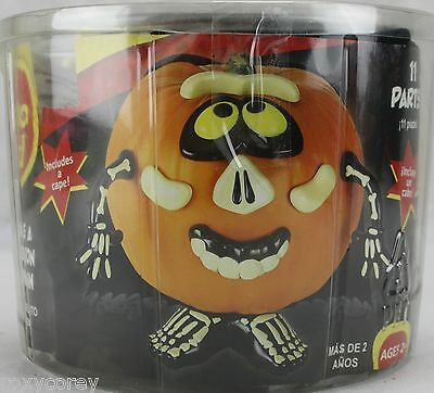 Halloween Mr Potato Head Pumpkin Push In Skeleton Costume 11 Parts - Skeleton Parts Halloween