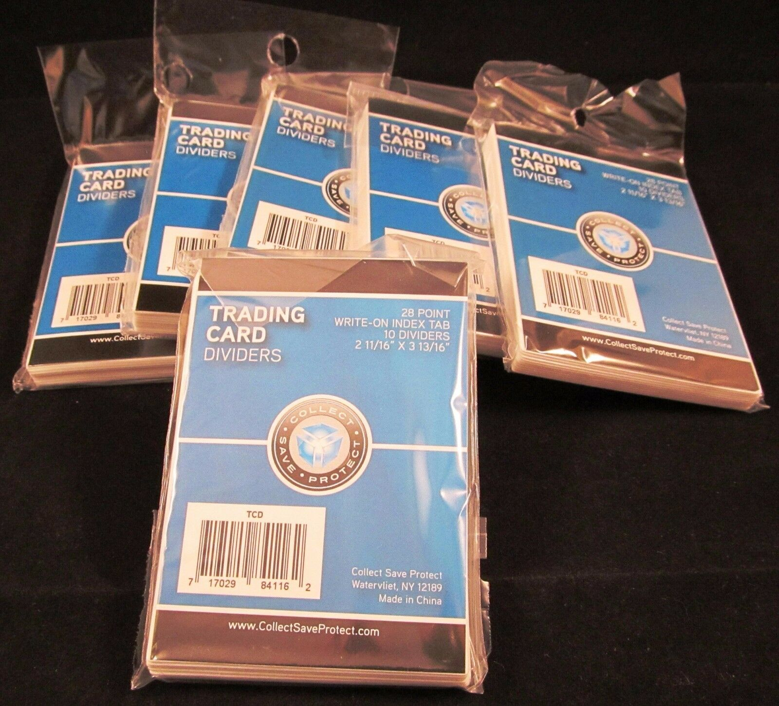 CSP TRADING CARD DIVIDERS 50/10ct PACKS  2 11/16 X 3 13/16