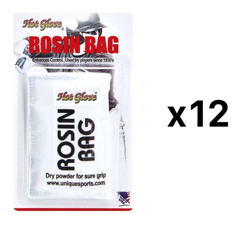 Unique Professional Grade Dry Rosin Bag Baseball Softball Bat Grip (12-Pack)