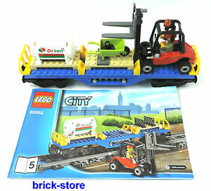 LEGO-CITY-Tren-60052-CARRETILLA-ELEVADORA-Vagon-Boxcar-transportwaggon