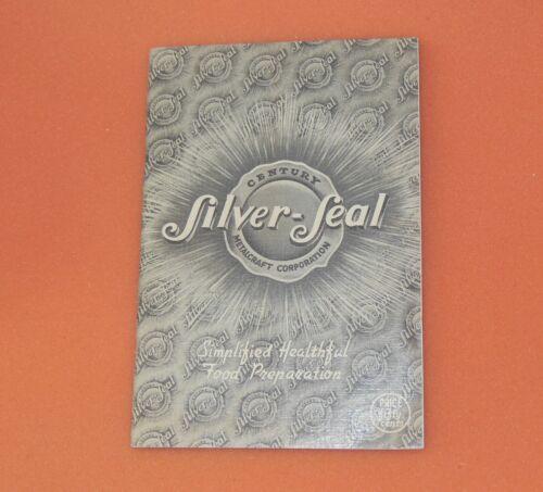 Guardian Silver Seal Aluminum Pan Pot Dutch Oven Kettle Recipe Cook Book Booklet
