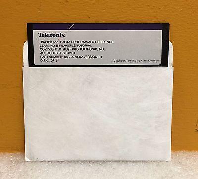 Tektronix 063-0279-02 Ver 1.1 Csa803 11801a Programming Reference Tutorial