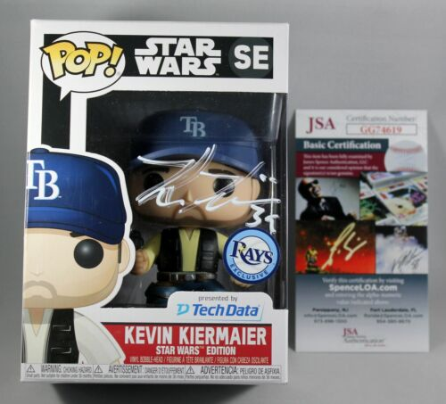 KEVIN KIERMAIER SIGNED TAMPA BAY RAYS STAR WARS FUNKO POP VINYL FIGURE MLB +JSA
