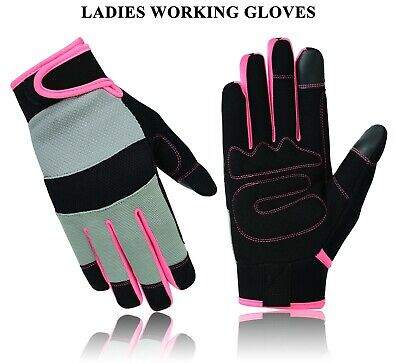 Ladies Work Gloves Hand Protection Mechanic Farmers Gardening Diy Cleaning Uk