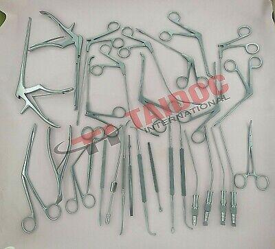 Fess Instruments Complete Set Of Endoscopic Sinus Surgery Plastic Surgery Set A