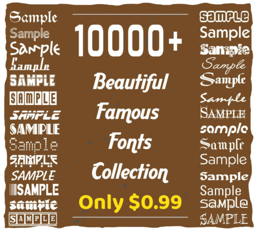 10K+ Beautiful Famous Top Creative Fonts Collection