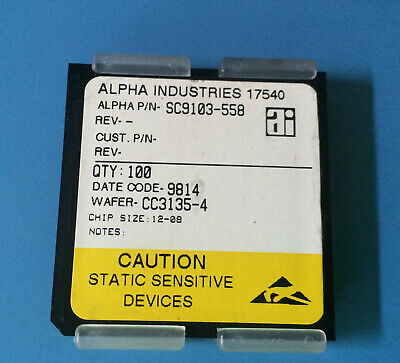 100x Sc9103-558 Alpha Industries Capacitor Chip Rf Microwave Product Size 12-08