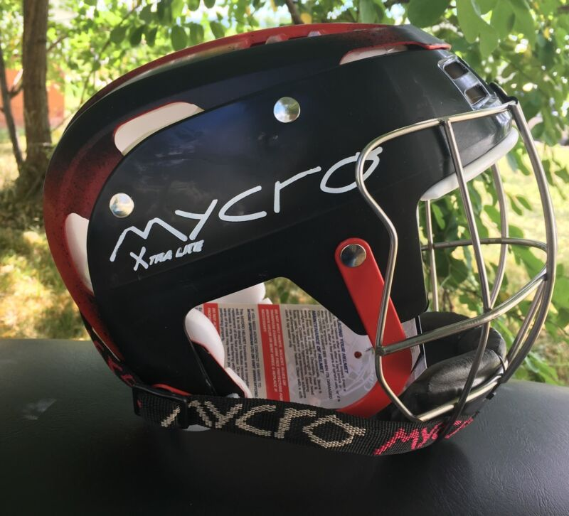 Mycro Hurling Helmet - Red Black Fade - Small 51cm  - Ships From USA