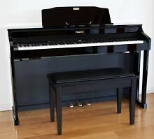 ROLAND HP506 Digital Piano in Polished Ebony + Piano Stool Bentleigh East Glen Eira Area Preview