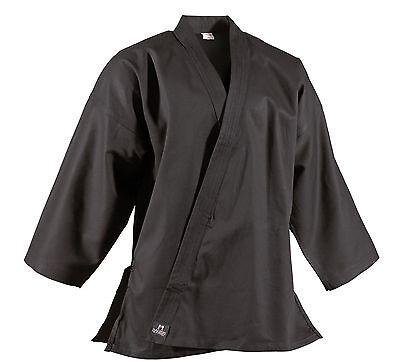 Jacke Traditional von Dan Rho. Schwarz, rot u. blau. 10Oz, Karate, SV, Ju Jutsu