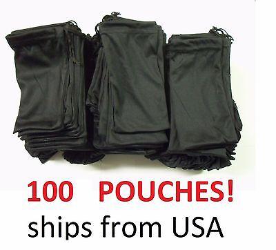 Cheap Bulk Lot 100 Black Micro Fiber Sunglasses Carrying Pouch Case Bag Sleeve