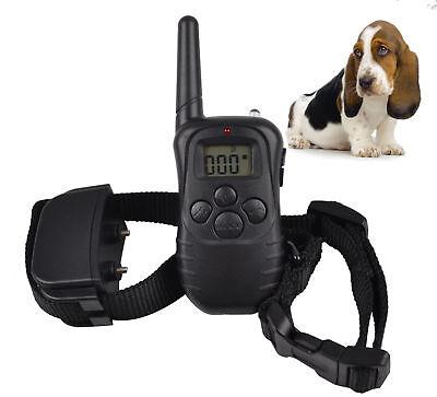 LCD E-Collar for 1 Dog Training Remote Control Anti Bark Collar No Bark