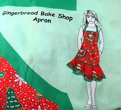 Holiday apron Gingerbread Bake Shop cotton fabric Spring Creative sewing gift Holiday Bake Shop