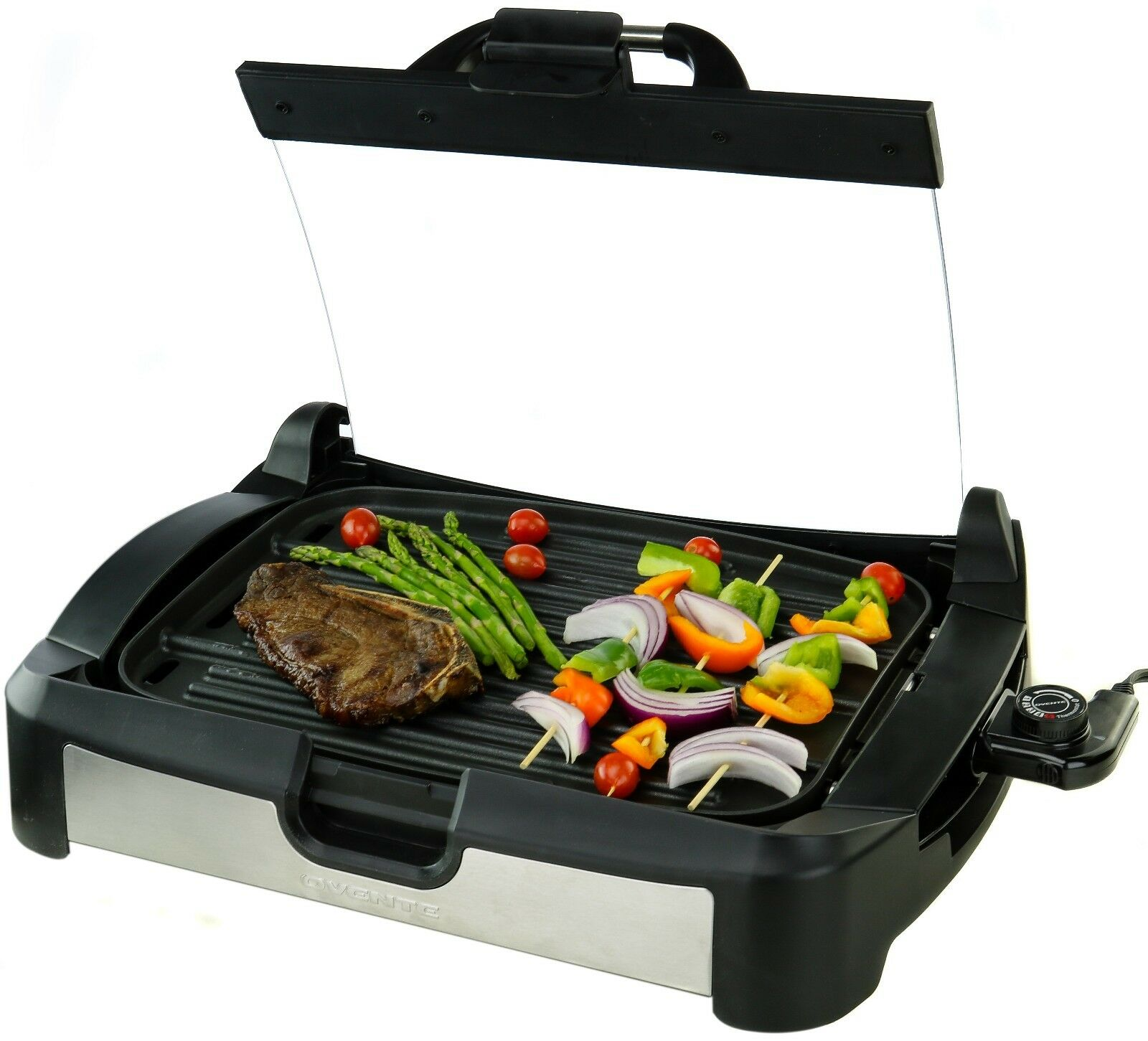 Ovente 1700 Watts Reversible Electric Grill and Griddle with