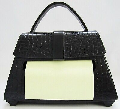 Pop Up Post It Note Dispenser Black Purse-shaped Weighted Post-it Note Holder
