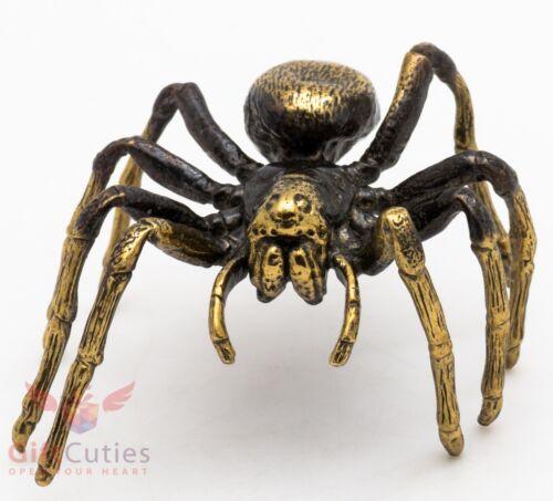Solid Brass Figurine of Tarantula Spider Totem talisman IronWork