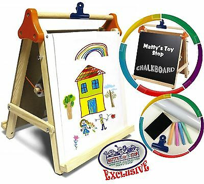 Deluxe 3-in-1 Wooden Tabletop Easel W/blackboard, Dry Era...
