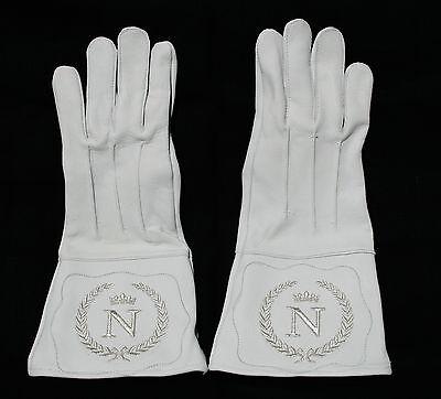 Napoleon Uniform Handschuhe Bonaparte Leder Tschako Reenactment sca Larp KVM112