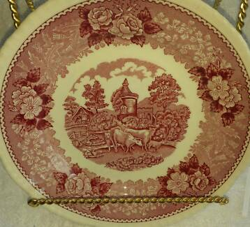 Adams (Wedgewood) English Scenic Plate with cows