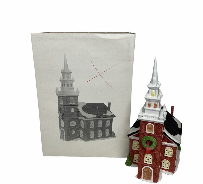 """Department 56 RETIRED New England Village Series """"Old North Church"""" #5932-3"""