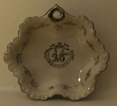 25 Th Silver Wedding Anniversary Candy Dish Bells Party Centerpieces Gift 7