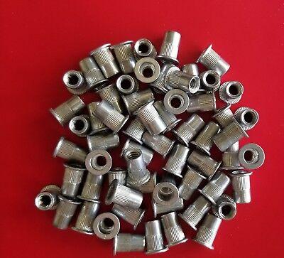 Aluminum Rivet Nut Rivnut Insert Nutsert - 14-20 Unc - 25 Pcs